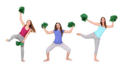 Three cheerleaders