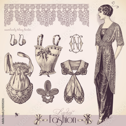 Vintage Ladies' Fashion and Accessories