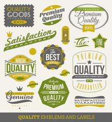 Guaranteed and quality -  vector signs, emblems and labels