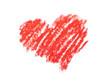 coeur dessiné au crayon rouge
