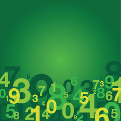 green number background
