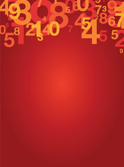 red number background
