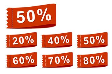 Rabatt- Etiketten Discount labels
