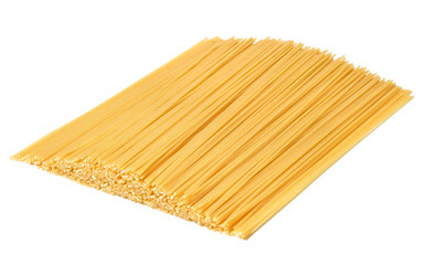 Pasta spaghetti whole grain on white background with copy space.