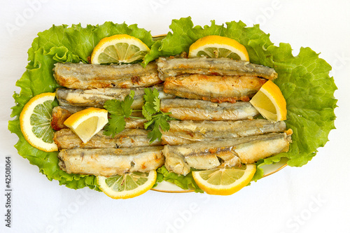 Grilled Capelin, top view