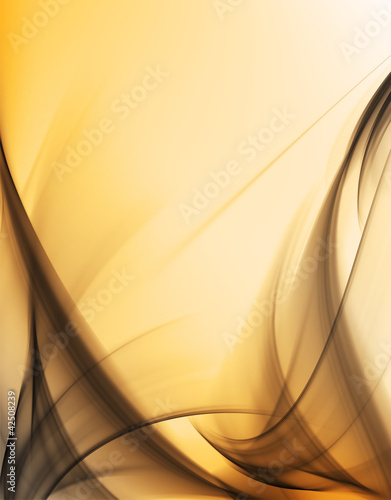 Gold and smoke fractal background