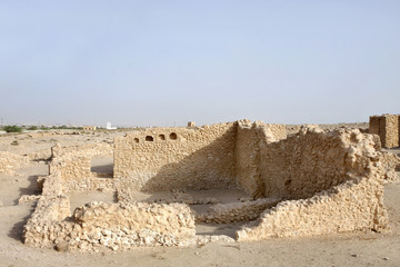 Remains of ancient rooms in Saar Village