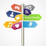 Vector symbol social media.