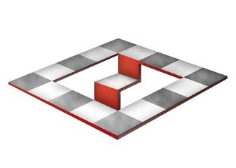 Шахматная оптическая иллюзия