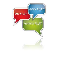 SMS FLAT, DATEN FLAT, FESTNETZ FLAT