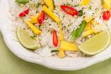 Ryż smażony z mango, chili i limonką poster