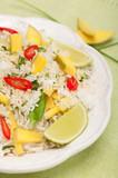 Nasi goreng-ryż smażony z mango, imbirem i chili poster