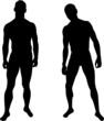 Silhouettes of men