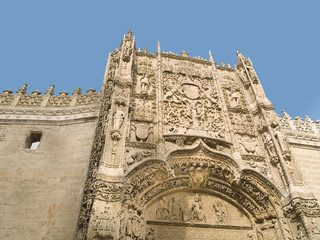 Valladolid, historic and cultural city, Spain. Cathedral view.