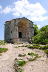 Cave city karaite Chufut-kale. The Tomb of Canike-hanum