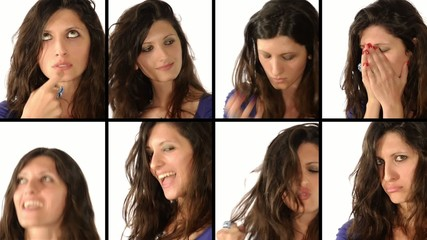 woman: facial expressions