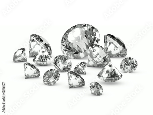 3d Diamonds Close-Up