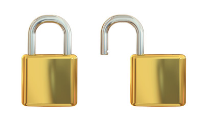 Open and closed lock