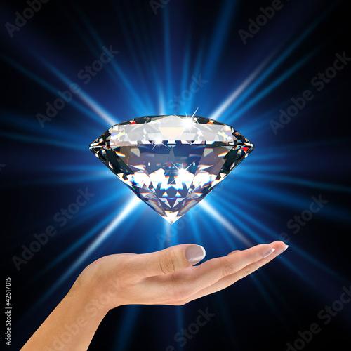Diamond in hands