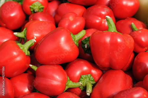 Red baby peppers