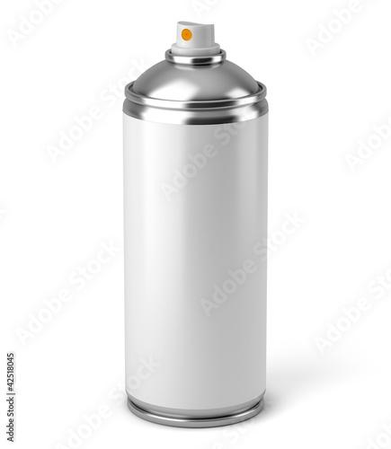 Bombe aérosol sur fond blanc 1 - 42518045