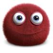 Leinwanddruck Bild - red hairy ball