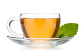 Fototapety Cup of tea with mint leaves