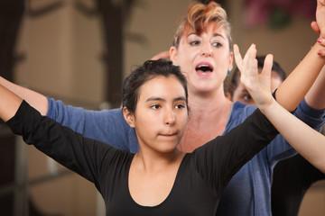 Dance Teacher with Student