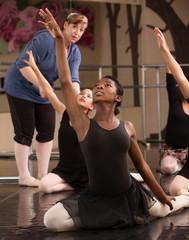 Kneeling Dance Students