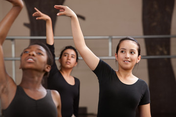 Young Dancers Practing