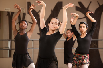 Ballet Students Practicing