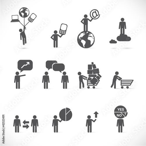 Business man metaphors - figure set collection