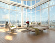 canvas print picture - Penthouse Loft with City View | Interior Architecture