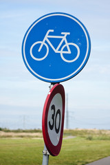 Cycle lane sign, Netherlands