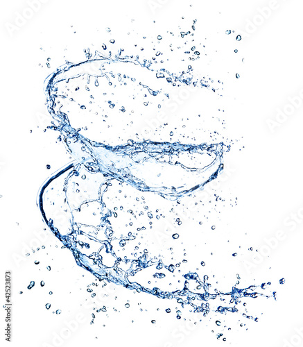 Water spiral, isolated on white background