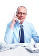 Executive businessman calling by phone.