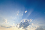 Hintergrund: Himmel vor Gewitter