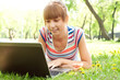 portrait of a woman witha laptop
