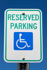 Disabled Reserved Parking Sign
