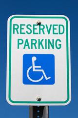 Disabled Reserved Parking Sign
