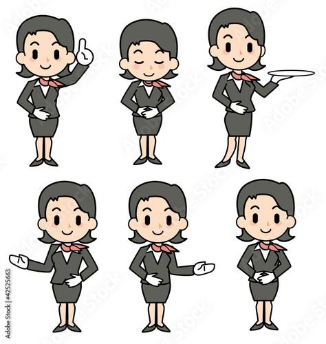 concierge - woman - set