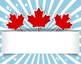 Canada Day banner.