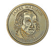 US James Madison dollar coin