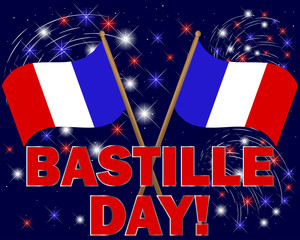 Bastille Day background.