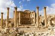 canvas print picture - nymphaeum in the roman ancient city of jerash, jordan