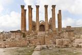 corinthian column of the temple of artemis in jerash, jordan poster