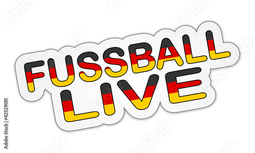 Sticker - Fussball Live