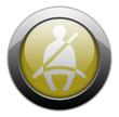 "Yellow Metallic Orb Button ""Seat Belt"""