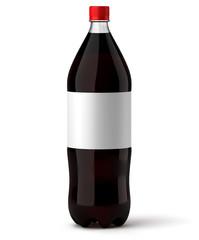 Bouteille de soda sur fond blanc 1