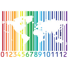 BARCODE COLOR WORLD ICON